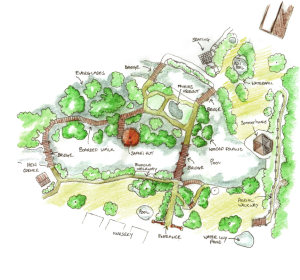 Map of Stonyford Cottage Garden