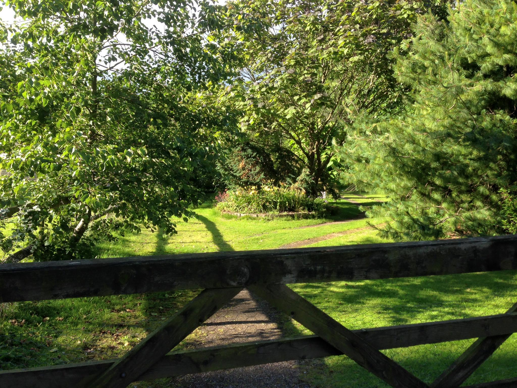 entrance to tea room garden area